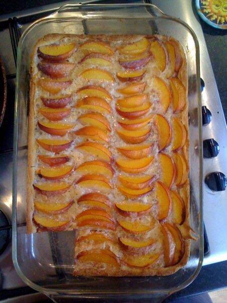 Recipe peach kuchen